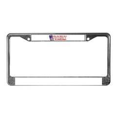 "Press ""1"" for English? License Plate Frame"