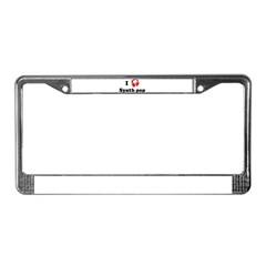 Synth pop music License Plate Frame