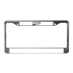 Vintage: Maribel License Plate Frame
