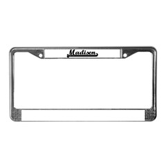 Black jersey: Madisen License Plate Frame