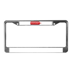 Kvetchup License Plate Frame