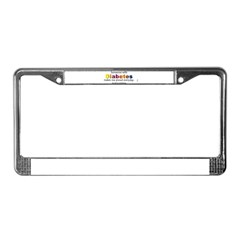 Diabetes Pride License Plate Frame