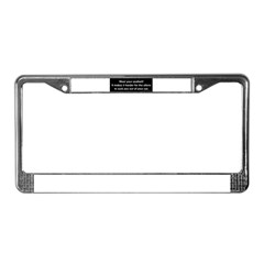 Wear Your Seatbelt Aliens License Plate Frame