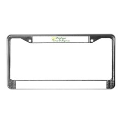 YogaMoxie License Plate Frame