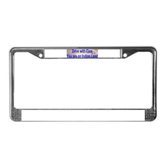 Native American-BS License Plate Frame