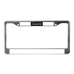 Drafting License Plate Frame