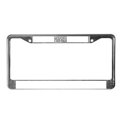 if slaughterhouses... License Plate Frame
