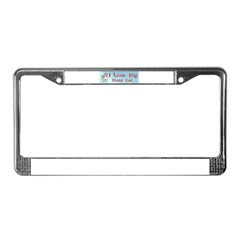 Manx Cats License Plate Frame
