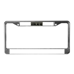 Iraq-Hell License Plate Frame