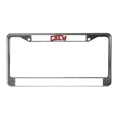 CHEW Design License Plate Frame