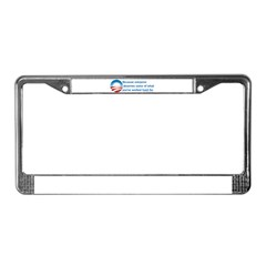Anti-Obama Because License Plate Frame