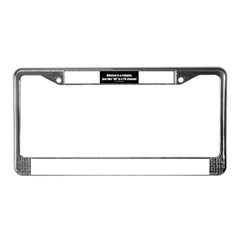 Atheism TV License Plate Frame
