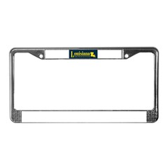 Louisiana Gold License Plate Frame