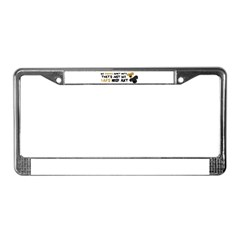 Lab Nose Art License Plate Frame
