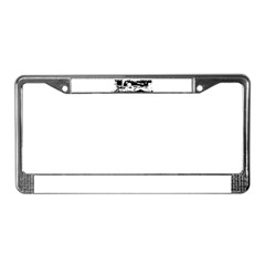 Lost Island White License Plate Frame