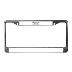 No rules bind Imprinted License Plate Frame