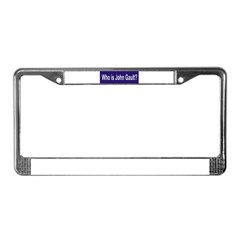 Who is John Gault? License Plate Frame