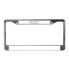 NO TEA FOR ME License Plate Frame