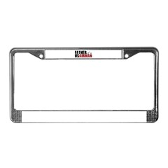 Father of a US Airman - License Plate Frame