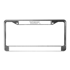Boxes License Plate Frame
