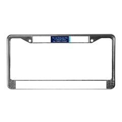 Lab Rottweiler Mix License Plate Frame