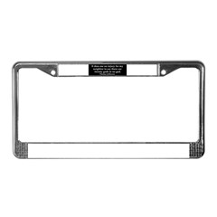 Jefferson religious tolerence License Plate Frame