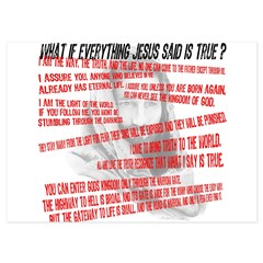 What if Jesus is truth.jpg 4.5 x 6.25 Flat Cards