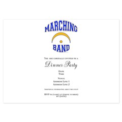 Marching Band 4.5 x 6.25 Flat Cards