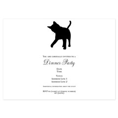 Black Kitten Silhouette 4.5 x 6.25 Flat Cards