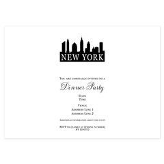 New York Skyline 4.5 x 6.25 Flat Cards