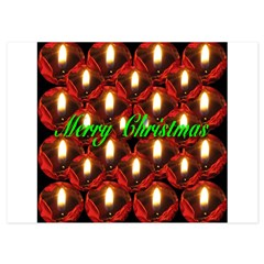 Twenty-six Memorial Rose Christmas Candles 4.5 x 6.25 Flat Cards