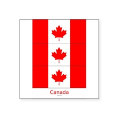 "Flag of Canada Stickers 3pc Square Sticker 3"" x 3"""