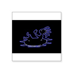 "Kokopelli Tuber Rectangle Square Sticker 3"" x 3"""