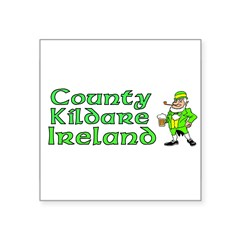 "County Kildare, Ireland Rectangle Square Sticker 3"" x 3"""