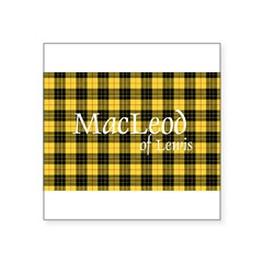 "Tartan - MacLeod of Lewi Square Sticker 3"" x 3"""
