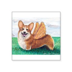 "Corgi Rectangle Square Sticker 3"" x 3"""