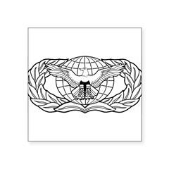"Force Protection Badge Rectangle Square Sticker 3"" x 3"""
