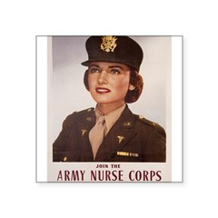 "Army Nurse Corps Rectangle Square Sticker 3"" x 3"""