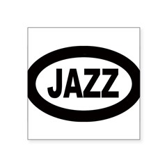 "Jazz Car Oval Square Sticker 3"" x 3"""