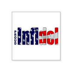 "Proud Infidel Rectangle Square Sticker 3"" x 3"""