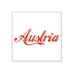 "Vintage Austria Rectangle Square Sticker 3"" x 3"""