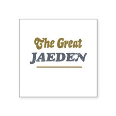 "Jaeden Rectangle Square Sticker 3"" x 3"""