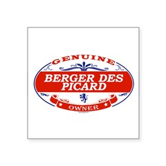"BERGER DES PICARD Oval Square Sticker 3"" x 3"""