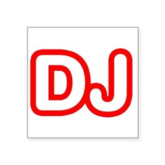 "DJ Rectangle Square Sticker 3"" x 3"""