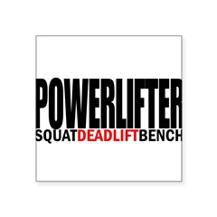 "POWERLIFTER Rectangle Square Sticker 3"" x 3"""