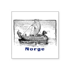 "NORGE Rectangle Square Sticker 3"" x 3"""
