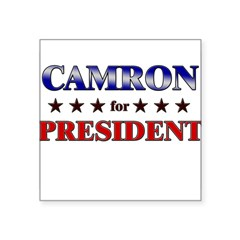 "CAMRON for president Rectangle Square Sticker 3"" x 3"""