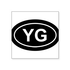 "YG Oval Square Sticker 3"" x 3"""