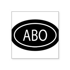"ABO Oval Square Sticker 3"" x 3"""