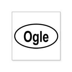 "OGLE Oval Square Sticker 3"" x 3"""